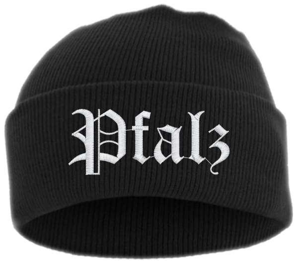 Pfalz Umschlagmütze - Altdeutsch - Bestickt - Mütze mit breitem Umschlag