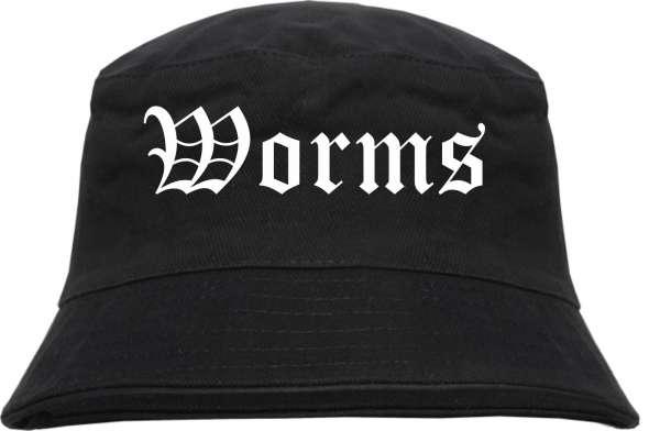 Worms Fischerhut - Altdeutsch - bedruckt - Bucket Hat Anglerhut Hut