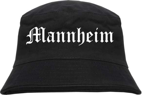 Mannheim Fischerhut - Altdeutsch - bedruckt - Bucket Hat Anglerhut Hut