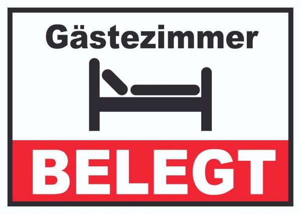Gästezimmer BELEGT Schild Zimmer BELEGT