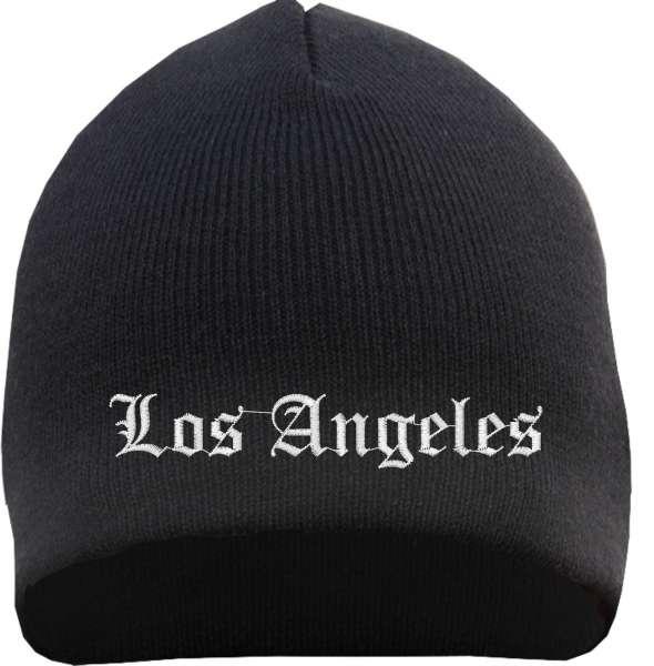 Los Angeles Beanie Mütze - Altdeutsch - Bestickt - Strickmütze Wintermütze