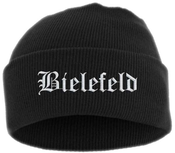 Bielefeld Umschlagmütze - Altdeutsch - Bestickt - Mütze mit breitem Umschlag