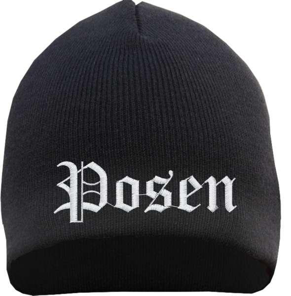 Posen Beanie Mütze - Altdeutsch - Bestickt - Strickmütze Wintermütze