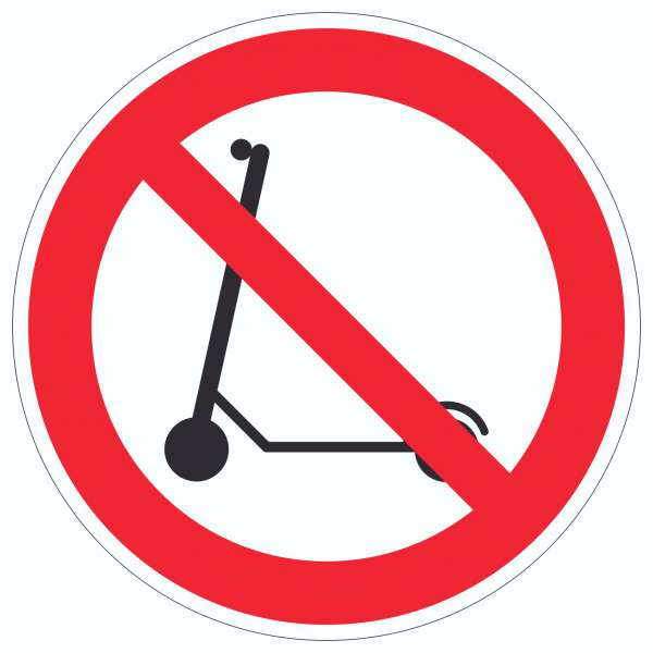 E- Scooter Abstellen verboten Aufkleber Kreis Elektro -Tretroller Roller