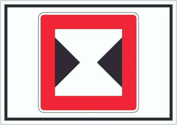 Begrenzte Fahrwasserbreite Durchfahrtsbreite begrenzt Symbol