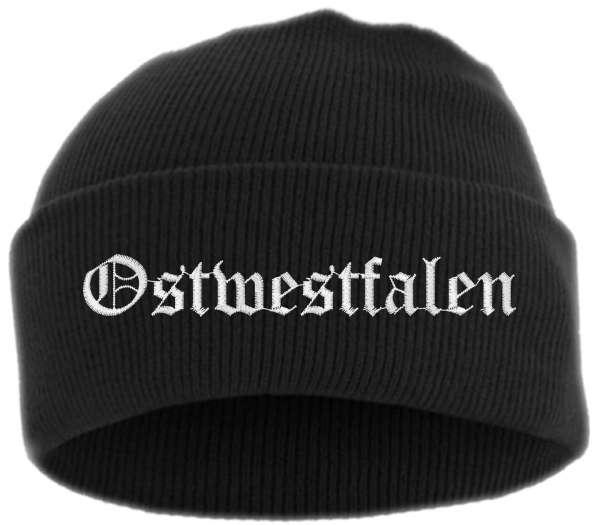 Ostwestfalen Umschlagmütze - Altdeutsch - Bestickt - Mütze mit breitem Umschlag