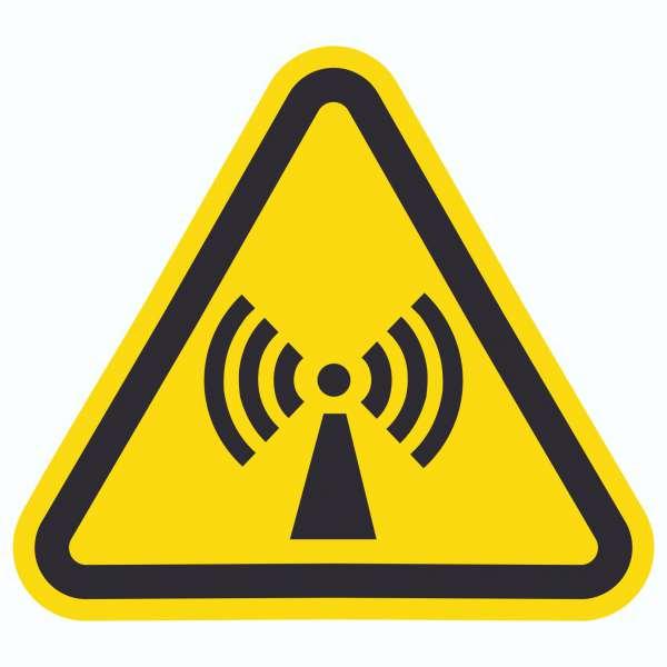 Achtung Nicht ionisierende Strahlung Symbol Aufkleber Dreieck