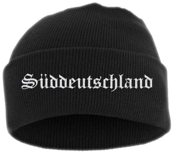 Süddeutschland Umschlagmütze - Altdeutsch - Bestickt - Mütze mit breitem Umschlag