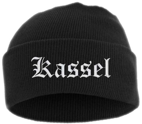 Kassel Umschlagmütze - Altdeutsch - Bestickt - Mütze mit breitem Umschlag