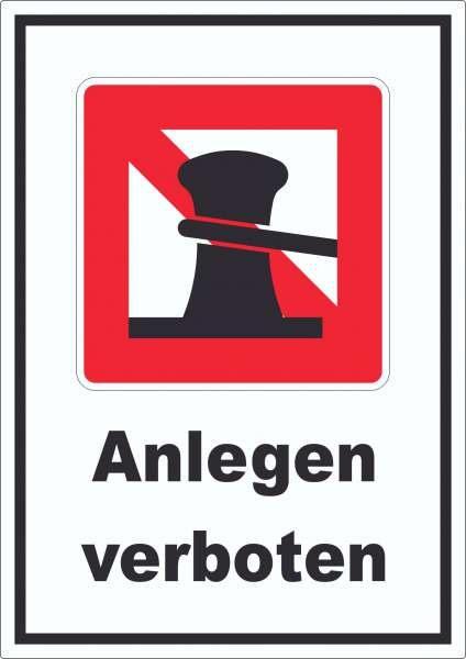 Anlegen verboten Aufkleber
