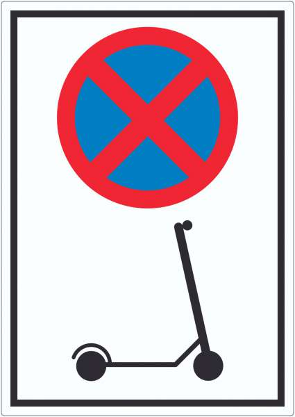 E- Scooter Parken verboten Aufkleber Elektro -Tretroller Roller