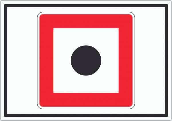Schallzeichen geben Aufkleber mit Symbol Horn benutzen