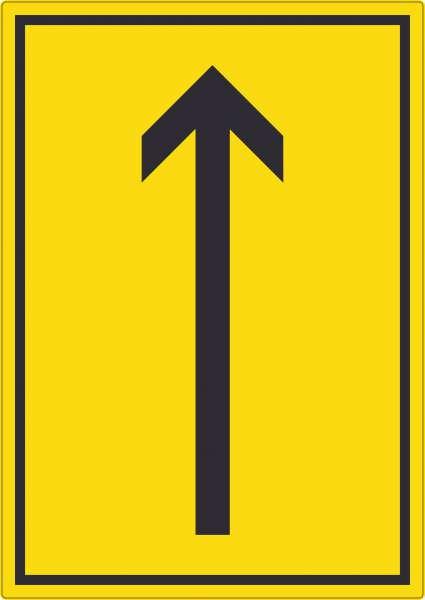 Richtungspfeil hoch Aufkleber hochkant schwarz gelb Pfeil