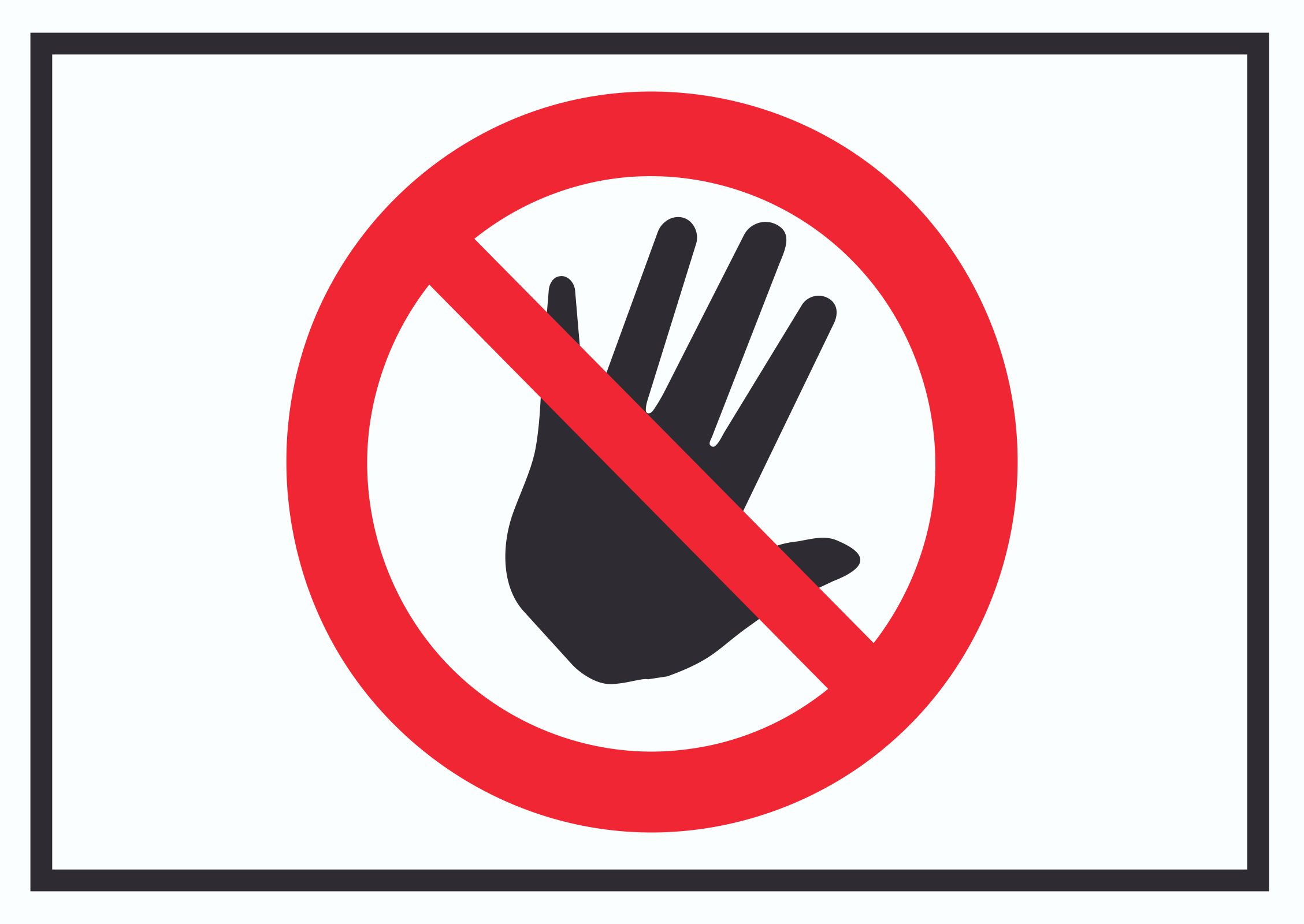 Bitte nicht anfassen Symbol Schild | HB-Druck Schilder