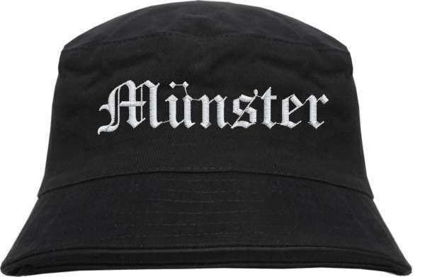 Münster Fischerhut - Altdeutsch - bestickt - Bucket Hat Anglerhut Hut