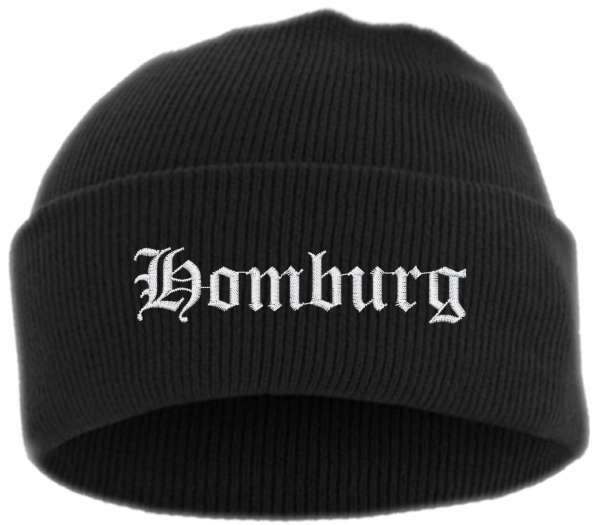 Homburg Umschlagmütze - Altdeutsch - Bestickt - Mütze mit breitem Umschlag