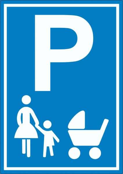 Mutter und Kind Parkplatz Aufkleber Familien Parkplatz