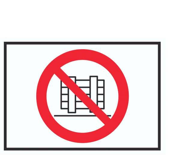 Abstellen oder Lagern verboten Symbol Schild