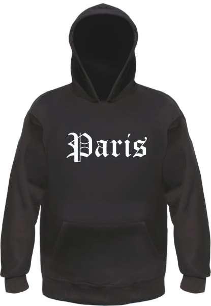 Paris Kapuzensweatshirt - Altdeutsch bedruckt - Hoodie Kapuzenpullover