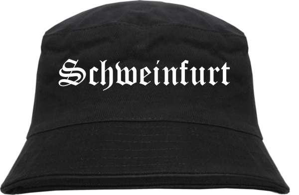 Schweinfurt Fischerhut - Altdeutsch - bedruckt - Bucket Hat Anglerhut Hut
