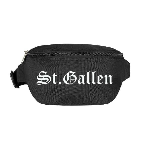 St.Gallen Bauchtasche - Altdeutsch bedruckt - Gürteltasche Hipbag