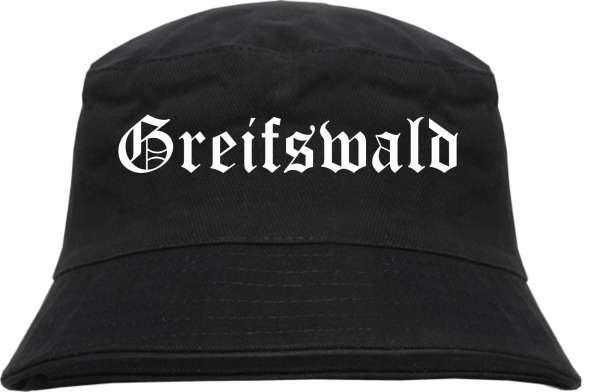 Greifswald Fischerhut - Altdeutsch - bedruckt - Bucket Hat Anglerhut Hut