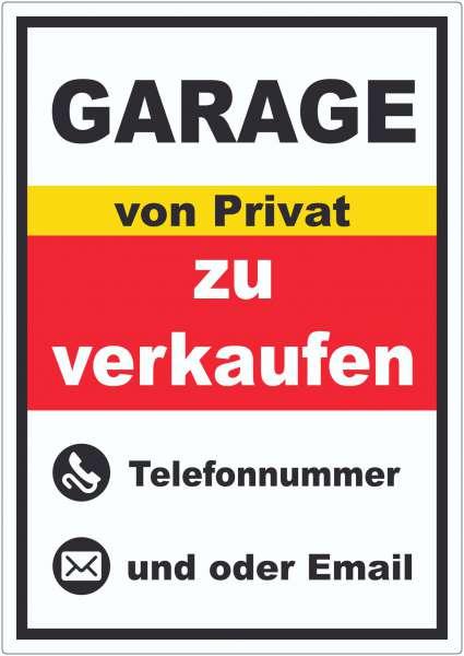 Garage zu verkaufen von Privat Hochkant Aufkleber