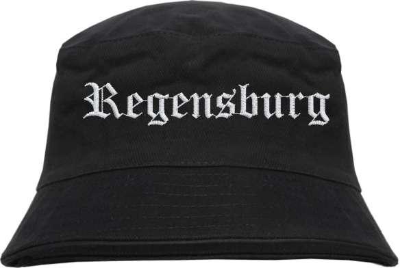 Regensburg Fischerhut - Altdeutsch - bestickt - Bucket Hat Anglerhut Hut