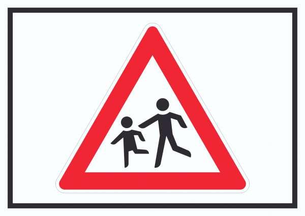 Achtung Kinder Schild Symbol