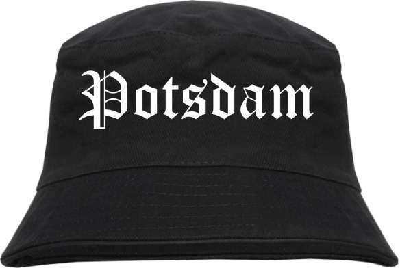 Potsdam Fischerhut - Altdeutsch - bedruckt - Bucket Hat Anglerhut Hut