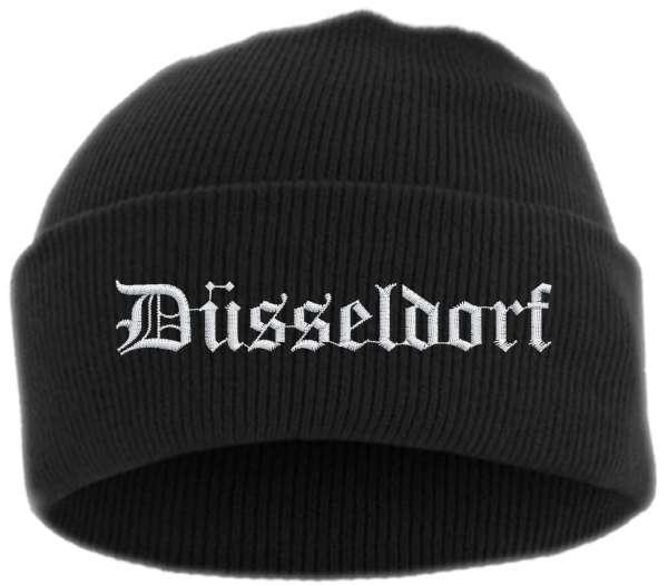 Düsseldorf Umschlagmütze - Altdeutsch - Bestickt - Mütze mit breitem Umschlag