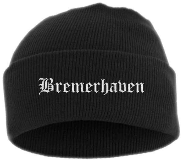 Bremerhaven Umschlagmütze - Altdeutsch - Bestickt - Mütze mit breitem Umschlag