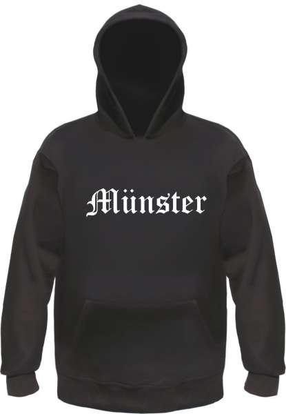 Münster Kapuzensweatshirt - Altdeutsch - bedruckt - Hoodie Kapuzenpullover