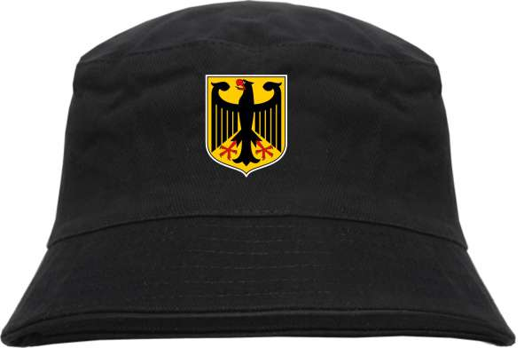 Deutschland Wappen Fischerhut - bedruckt - Bucket Hat Anglerhut Hut