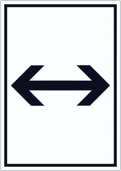 Richtungspfeil rechts links Aufkleber hochkant schwarz weiss Pfeil