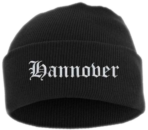 Hannover Umschlagmütze - Altdeutsch - Bestickt - Mütze mit breitem Umschlag