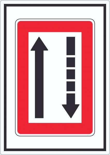 Fahrwasserseite an Backbord halten Symbol Aufkleber
