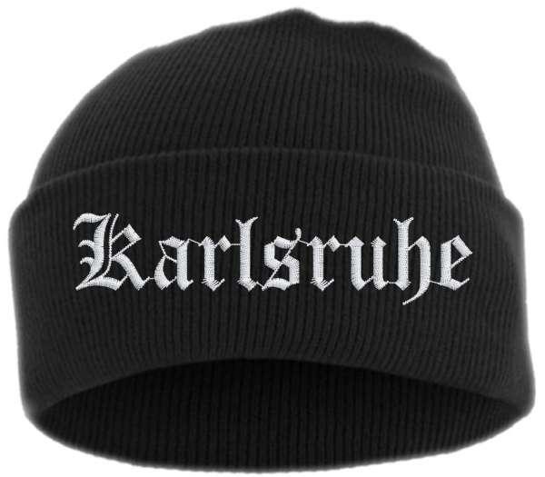 Karlsruhe Umschlagmütze - Altdeutsch - Bestickt - Mütze mit breitem Umschlag