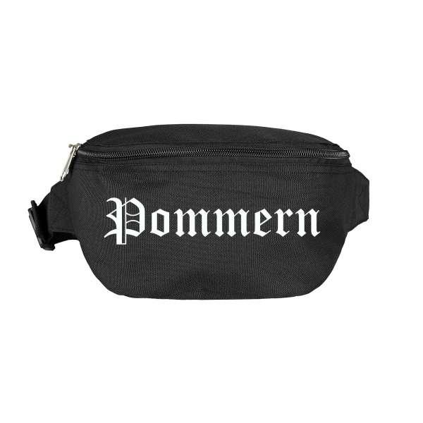 Pommern Bauchtasche - Altdeutsch bedruckt - Gürteltasche Hipbag