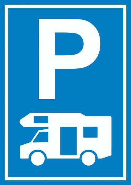 Wohnmobil Parkplatz Schild