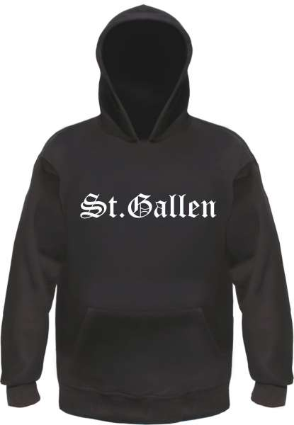 St.Gallen Kapuzensweatshirt - Altdeutsch bedruckt - Hoodie Kapuzenpullover