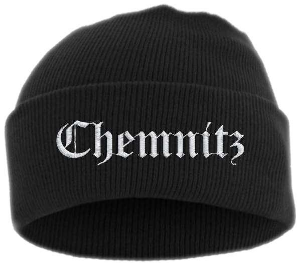 Chemnitz Umschlagmütze - Altdeutsch - Bestickt - Mütze mit breitem Umschlag
