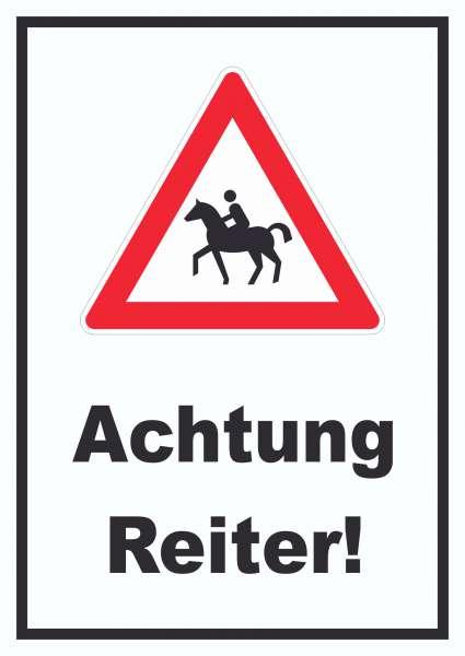 Achtung Reiter Schild