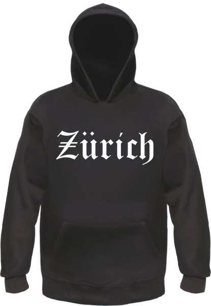 Zürich Kapuzensweatshirt - Altdeutsch bedruckt - Hoodie Kapuzenpullover