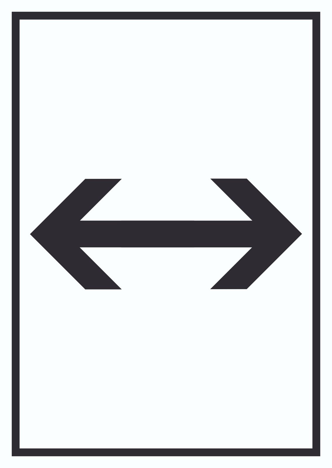Richtungspfeil-links rechts oben unten-Schild 100 x 100 x 3 mm-Aluminium Edelstahloptik silber mattgeb/ürstet Hinweisschild-Warnschild-1910-41