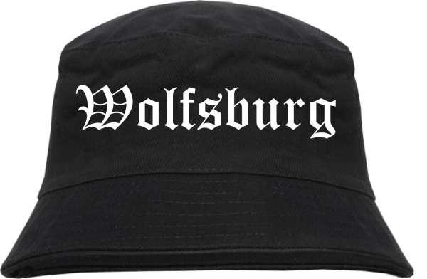 Wolfsburg Fischerhut - Altdeutsch - bedruckt - Bucket Hat Anglerhut Hut