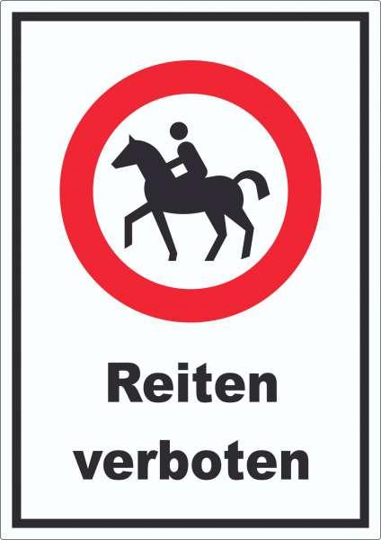 Reiten verboten Aufkleber
