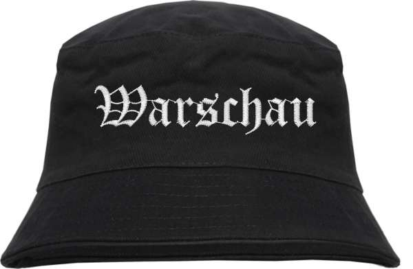Warschau Fischerhut - Altdeutsch - bestickt - Bucket Hat Anglerhut Hut