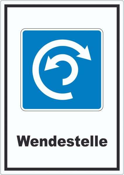 Wendestelle Umdrehen erlaubt Symbol und Text Aufkleber