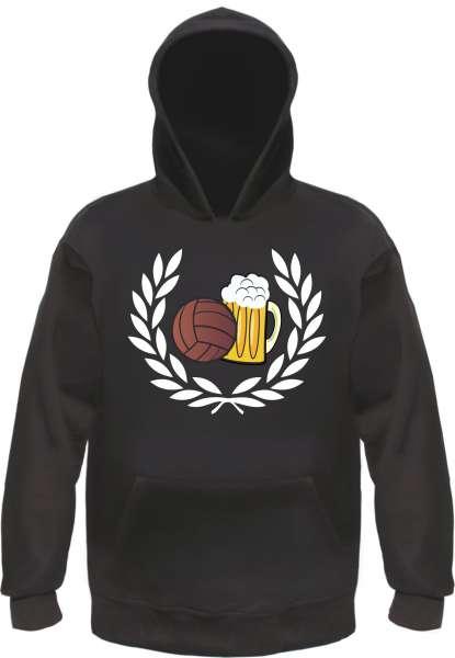 Lorbeerkranz Fussball Bier Kapuzensweatshirt - Hoodie